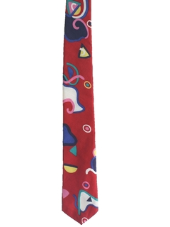 1980's Mens Totally 80s Skinny Rockabilly Style Necktie