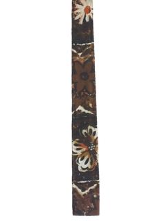 1960's Mens Mod Skinny Flat Bottom Hawaiian Necktie