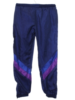 1980's Unisex Hip Hop Style Baggy Totally 80s Track Pants