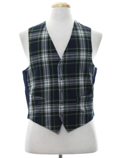 1960's Mens Mod Wool Suit Vest