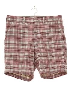 1970's Mens Plaid Saturday Shorts