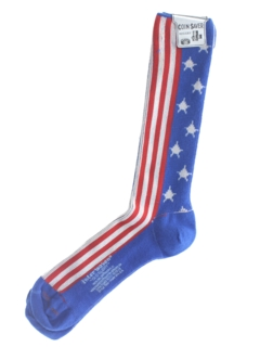 1970's Mens Accessories - Stars and Stripes Socks