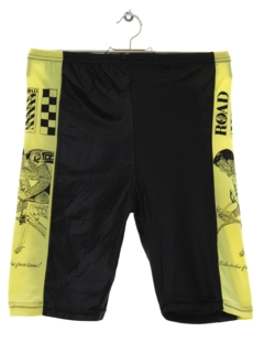 1980's Mens Totally 80s Neon Bike Shorts