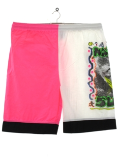 1980's Mens Totally 80s Neon Board Shorts