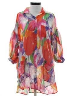 1980's Womens Totally 80s Oversized Shirt