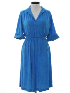 1970's Womens Terry Cloth Day Dress