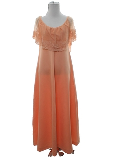 1960's Womens Prom Or Maxi Cocktail Dress