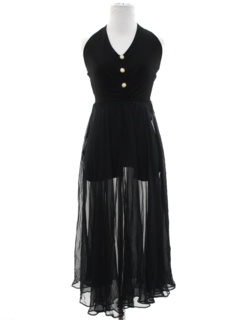 1970's Womens Disco Cocktail Dress