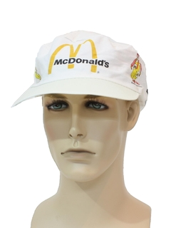 1980's Mens Accessories - Totally 80s McDonalds Hat