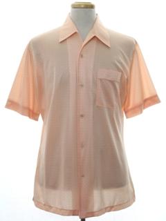 1970's Mens Subtle Print Disco Style Sport Shirt