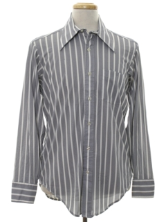 1960's Mens Striped Print Disco Shirt