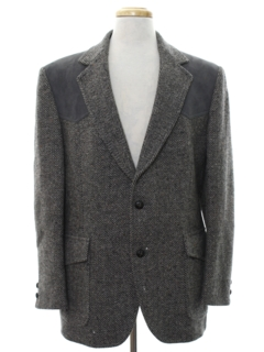 1970's Mens Western Pendleton Wool Blazer Style Sport Coat Jacket