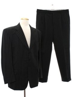 1990's Mens Swing Style Pinstripe Suit