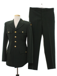 1990's Mens Army Military Suit