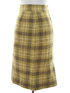 1960's Womens Mod Plaid Skirt