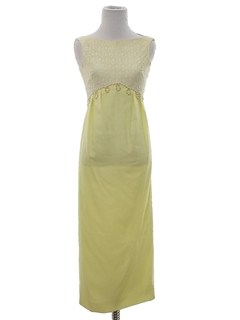 1960's Womens or Girl Cocktail Maxi Dress