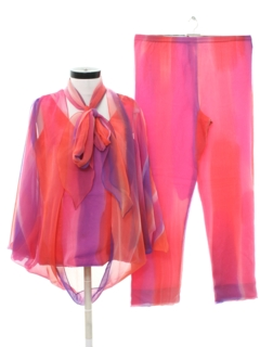 1970's Womens Designer Hippie Pant Suit