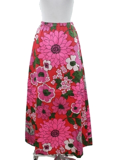 1960's Womens Pow-Flower Hippie Skirt