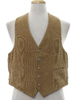 1970's Mens Corduroy Suit Vest