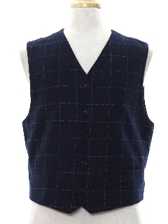 1980's Mens Totally 80s Preppy Wool Vest
