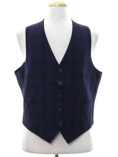 1980's Mens Totally 80s Subtle Print Suit Vest