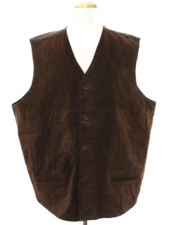 1980's Mens Totally 80s Suede Vest