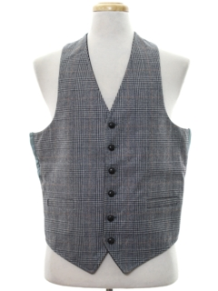 1960's Mens Wool Reversible Suit Vest