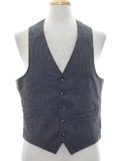 1970's Mens Pinstriped Disco Suit Vest