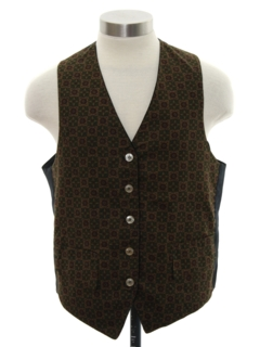 1960's Mens Mod Reversible Velvet Suit Vest