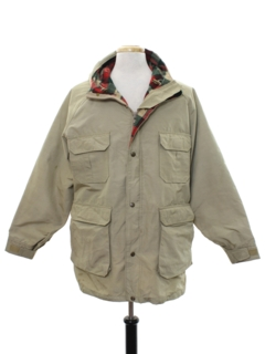 1980's Mens Hunting Style Field Car Coat Jacket