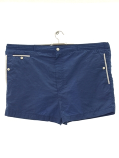 1980's Mens Designer Mod Swim Shorts