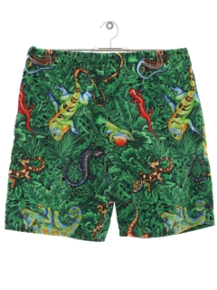 1980's Mens Print Baggy Style Shorts