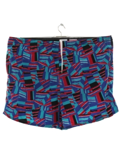 1990's Mens Totally 80s Style Swim Shorts