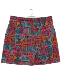 1980's Mens Totally 80s Print Baggy Shorts