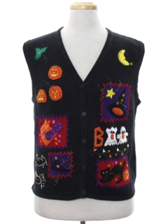 1990's Unisex Cheesy Kitschy Ugly Halloween Sweater Vest