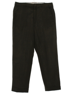 1960's Mens Mod Flat Front Wool Slacks Pants