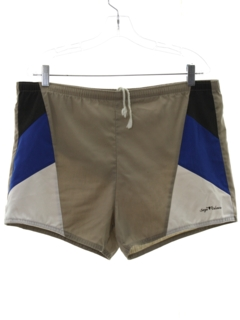 1980's Mens Totally 80s Designer Swim Shorts