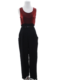 1980's Womens Totally 80s Disco Cocktail Jumpsuit