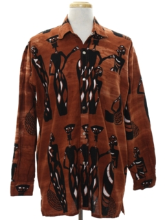 1990's Mens Ethnic Hippie Shirt