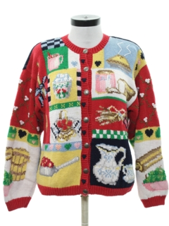 1980's Womens Kitchy Ugly Sweater