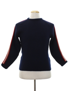 1960's Mens Mod Wool Ski Sweater