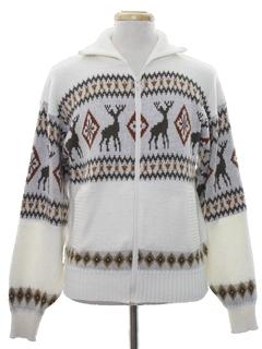 1980's Mens Vintage Reindeer Ski Sweater