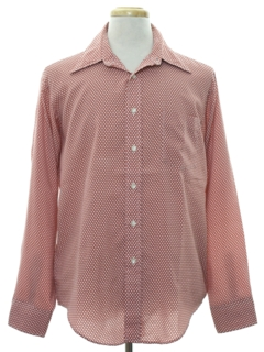 1970's Mens Polka Dot Print Shirt