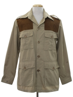 1970's Mens Safari Hunting Shirt Jacket
