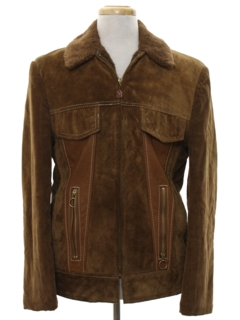 1970's Mens Suede Leather Jacket