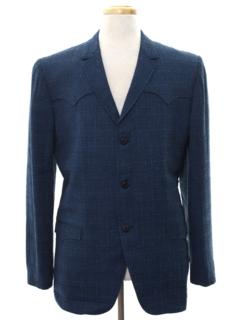 1960's Mens Mod Western Style Blazer Sportcoat Jacket