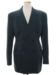 1940's Mens 40s Swing Style Blazer Sportcoat Jacket