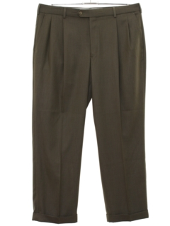 1980's Mens Totally 80s Swing Style Pleated Pants