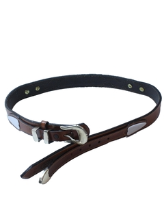 1990's Womens Accessories - Leather Western Belt