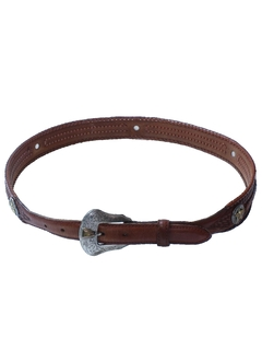 1990's Womens Accessories - Thin Leather Western Belt